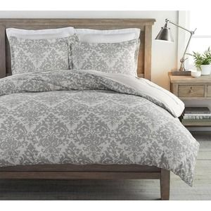 Pottery Barn Jacquard Medallion Cotton/Linen Duvet